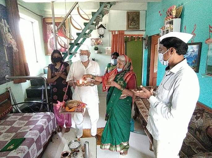 Ram Janmaotsav ceremony in the house of Ramwadi | corona in satara-रामवाडीतील घराघरात रामजन्मोत्सव सोहळा