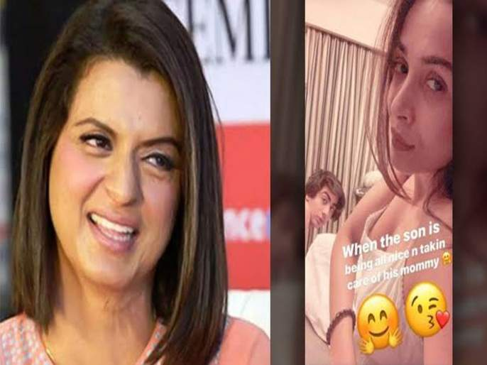 Rangoli Chandel takes a jibe at Malaika Arora for picture with son Arhaan; Says 'This is modern Indian mother'   रंगोलीला मलायकाची सोशल मीडियावर खिल्ली उडवणं पडलं भारी, युजर्स म्हणाले - डर्टी माइंड