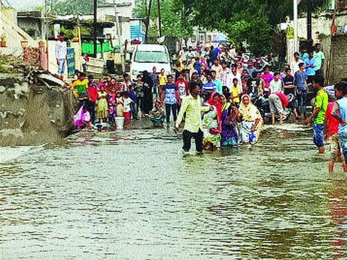 Loss of agriculture due to rain; Flood conditions in many places | पावसाने शेतीचे अतोनात नुकसान; अनेक ठिकाणी पूरसदृश्य स्थिती