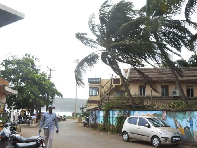 The storm hit Ratnagiri district, causing damage by falling trees in some places | Cyclone Nisarga: वादळी वाऱ्याचा रत्नागिरी जिल्ह्याला तडाखा, ठिकठिकाणी झाडं कोसळुन नुकसान