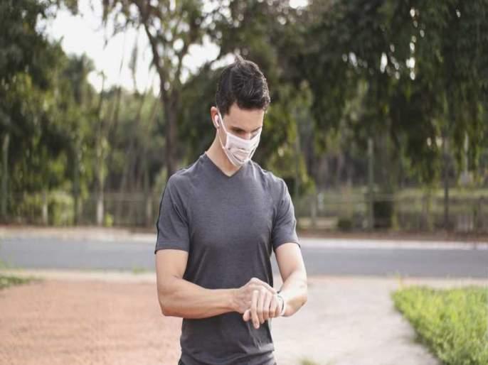 UK doctor ran 22 miles while wearing a face mask to prove they don't affect oxygen levels | मास्क घालून ICU मधला डॉक्टर ३५ किमी धावला; 'ऑक्सिजन लेव्हल'चं काय झालं बघा