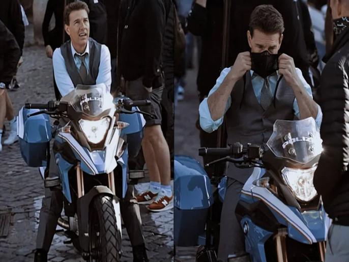 Tom Cruise all set to ride made-in-India BMW for his next Mission Impossible 7 | जे बात! 'मिशन इम्पॉसिबल' मध्ये मेड इन इंडिया बाइक चालवणार टॉम क्रूज, शूटचा व्हिडीओ व्हायरल....
