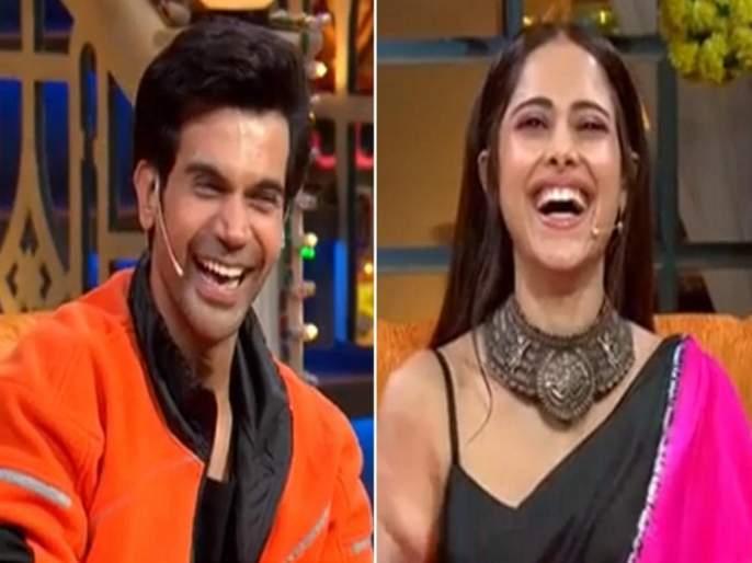 The Kapil Sharma show Rajkumar Rao, Nusrat chhalaang movie team   बाप रे बाप! चक्क भारतीला कडेवर घेऊन फिरला राजकुमार राव, कपिलचं नुसरतसोबत फ्लर्ट
