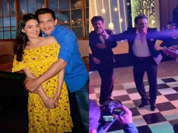 Govinda dance in Aditya Narayan reception video viral | गोविंदाचा आदित्यच्या रिसेप्शनमधील डान्स व्हिडीओ व्हायरल, पत्नी सुनीतानेही लगावले ठुमके...