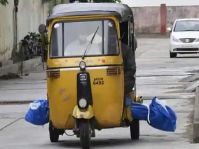telangana body of corona patient taken to burial ground in auto rickshaw photo viral | धक्कादायक! अंत्यसंस्कारासाठी चक्क रिक्षातून आणला कोरोना पॉझिटिव्ह व्यक्तीचा मृतदेह