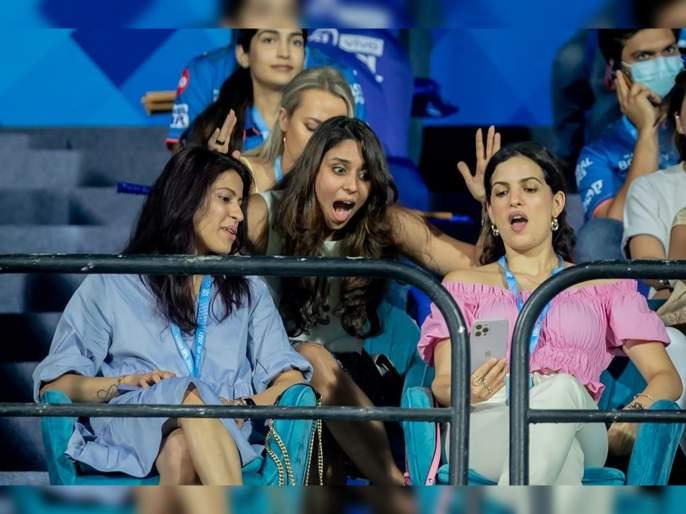 IPL 2021 : What surprised Ritika Sajdeh, Natasa Stankovic during MI vs KKR match? Mumbai Indians solve mystery for fans   IPL 2021: मुंबई वि. कोलकाता सामन्यात रितिका, नताशा यांनी का दिली होती अशी रिअॅक्शन?; मुंबई इंडियन्सनं सांगितलं कारण