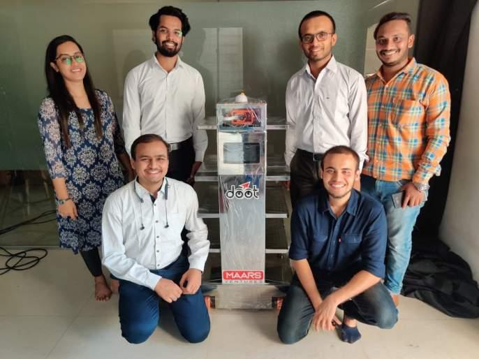corona virus: Unique table robot by Sangli youth | corona virus : सांगलीतील तरुणांनी साकारला अनोखा टेबल रोबोट