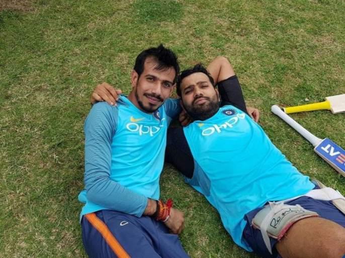 Asia Cup 2018: When Yuzvendrs Chahal gives batting tips to Rohit Sharma | Asia Cup 2018 : जेव्हा युजवेंद्र चहल देतो रोहित शर्माला फलंदाजीच्या टिप्स