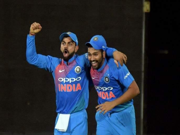 India vs South Africa, 1st T20I : Virat Kohli, Rohit Sharma eyeing record-fest outing in series opener at Dharamsala   India vs South Africa, 1st T20I : कॅप्टन कोहली अन् हिटमॅन रोहित यांच्यात विक्रमासाठी चढाओढ, कोण मारणार बाजी?