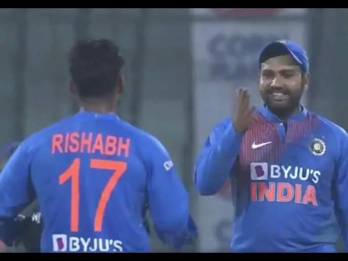 Video: Ek saal hua nahi mere ko challenge karega? Rohit Sharma brutally trolls Rishabh Pant svg | Video : एक वर्ष झालं नाही अन् मला चॅलेंज? रोहित शर्मानं घेतली रिषभ पंतची फिरकी