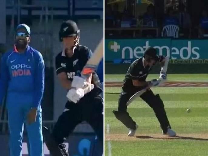 India vs New Zealand ODI : Rohit Sharma left amused by Trent Boult's insane footwork, Watch video   India vs New Zealand ODI : ट्रेंट बोल्टच्या 'त्या' कृत्यावर रोहित शर्माला हसू अनावर, पाहा व्हिडीओ