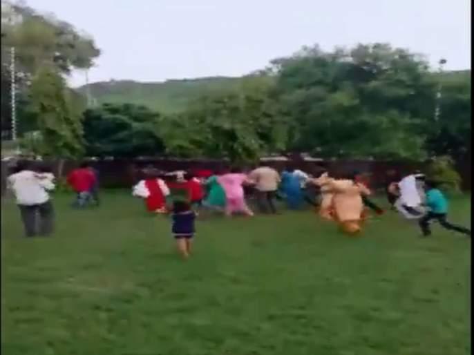 Clash erupted between two groups during an ongoing session a RSS shakha in Bundi | राजस्थानमध्ये संघाच्या शाखेदरम्यान दोन गटांत तणाव, व्हिडीओ व्हायरल