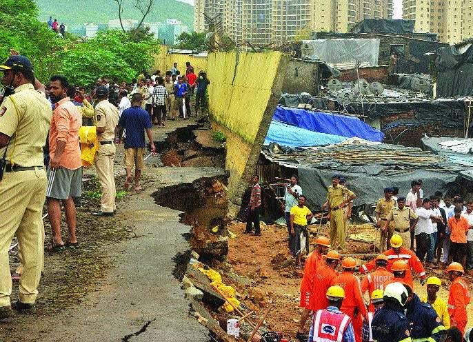 Even after 10 days of the accident the residents are helpless   दुर्घटनेच्या दहा दिवसांनंतरही रहिवासी उघड्यावरच