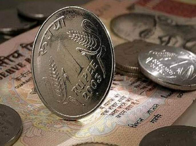 Rupee fell further by 5 paise | रुपया आणखी १८ पैशांनी घसरला