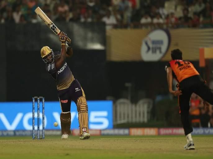 IPL 2019: Andre Russell done for KKR, Kolkata knight riders thrilling victory over SRH   IPL 2019 : वॉर्नरच्या पुनरागमनावर रसेलनं पाणी फिरवलं, कोलकाताचा थरारक विजय
