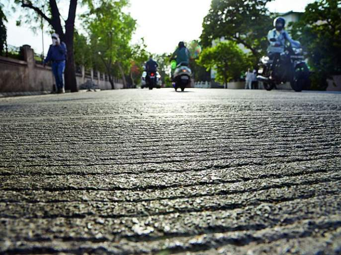 This cement road in Nagpur is right, the rest are wrong? | नागपुरातील हा सिमेंट रोड योग्य, बाकीचे चुकीचे आहेत का?