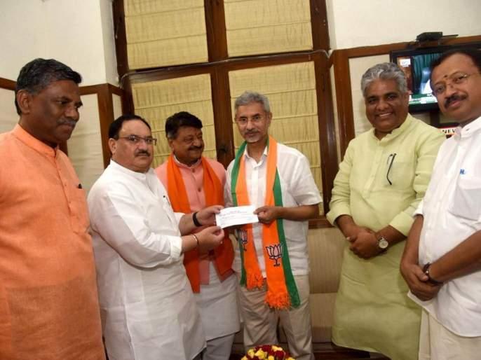 Foreign Minister Jaishankar officially joined the BJP | विदेशमंत्री जयशंकर अधिकृतरित्या भाजपमध्ये सामील