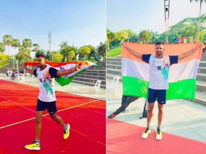 Osmanabad Sagar Hogade won most attractive player award at international throwball championship held in dubai | दुबईत महाराष्ट्राचा डंका; मराठमोळ्या सागर होगाडेनं पटकावला मानाचा किताब