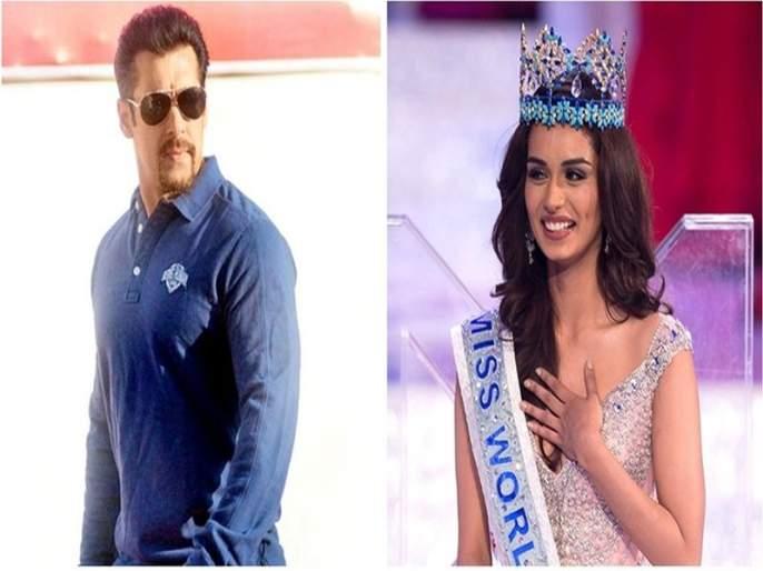 Salman Khan's eyes on Miss World Manushi Chillar! | मिस वर्ल्ड मानुषी छिल्लरवर सलमान खानची नजर !