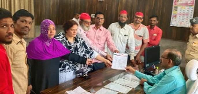 A Samajwadi Party a statement to the Corporation | समाजवादी पक्षातर्फे मनपाला निवेदन