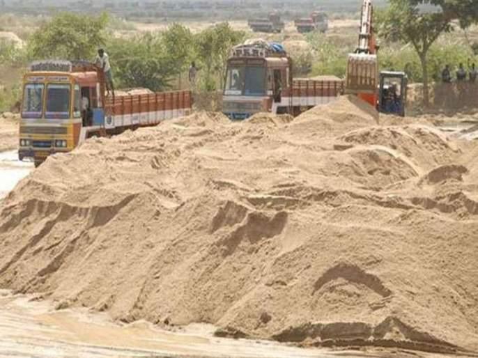 Sand belt auction postponed   रेती घाटाचे लिलाव स्थगित