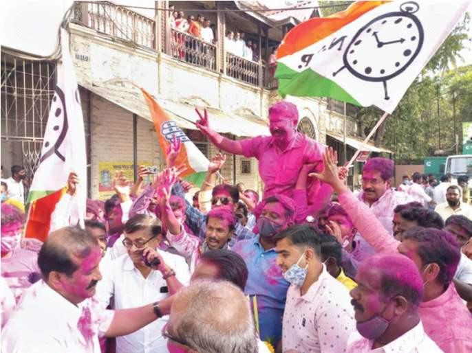 Sangli BJP majority, but NCP mayor; Power mine, seven votes split | सांगलीत भाजपचे बहुमत, पण राष्ट्रवादीचा महापौर; सत्तेला सुरुंग, सात मते फुटली