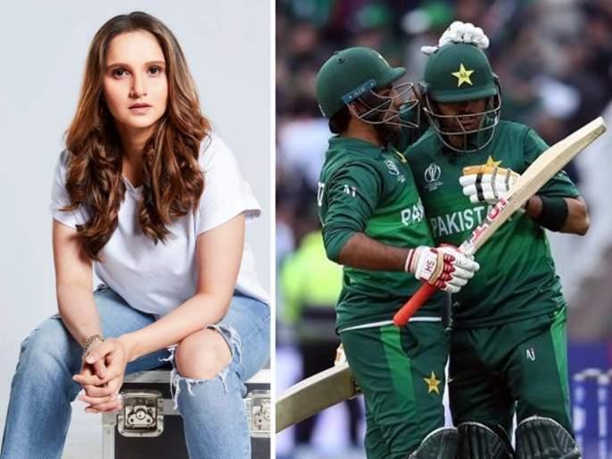 ICC World Cup 2019 : Indian Tennis star Sania Mirza as Pakistan end New Zealand's unbeaten run   ICC World Cup 2019 : पाकिस्तानच्या विजयावर सानिया मिर्झानं केलं ट्विट, अन्...