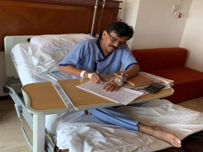 sanjay raut likely to get discharged tomorrow | Sanjay Raut's Health Update : संजय राऊतांना उद्या डिस्चार्ज मिळणार,अतिदक्षता विभागातून बाहेर