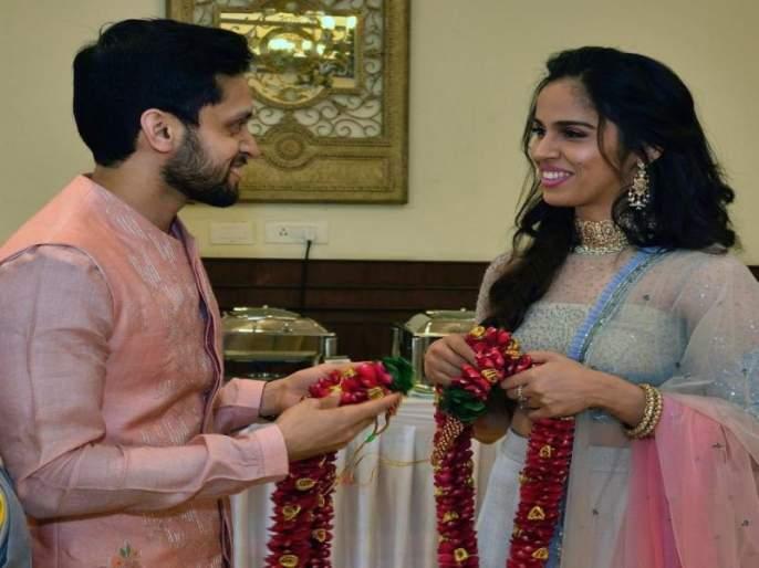 Saina Nehwal has tied the knot with fellow badminton star Parupalli Kashyap | 'फुलराणी' सायना आणि कश्यपचे झाले थाटामाटात लग्न