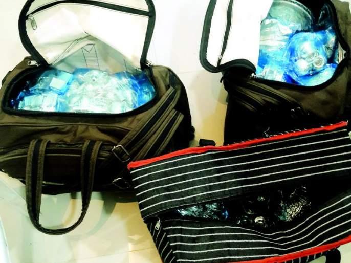 33 kg silverware seized at Khursapar border in Nagpur district   नागपूर जिल्ह्यातील खुर्सापार सीमेवर ३३ किलो चांदीची भांडी पकडली