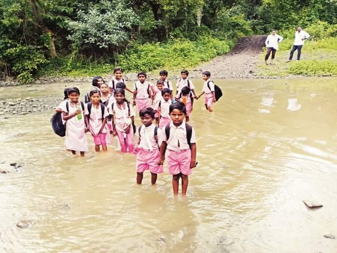 There is no road from freedom; The road to Palswadi Tanda in Nanded district is awkward | स्वातंत्र्यापासून रस्ताच नाही; नांदेड जिल्ह्यातील पळसवाडी तांड्याची वाट बिकट