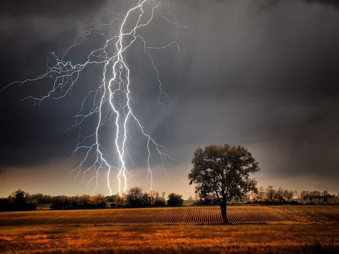 Lightning: Light emitted from storm clouds | वीजप्रपात : वादळी ढगांतून उत्सर्जित होणारी प्रकाशज्योत