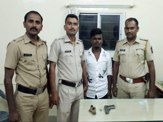 Sinhagad police arrested a youth with pistol | पिस्तुल बाळगणाऱ्यातरुणाला सिंहगड पोलिसांनी केलीअटक