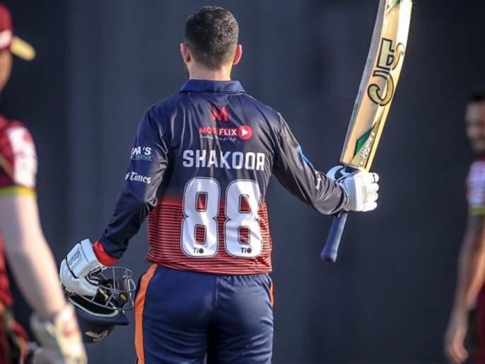 T10 League : Abdul Shakoor's slams 14 ball 50 to secure Maratha Arabians win over Northern Warriors | T10 League : अब्दुल शकूरचा कहर; चोपलं १४ चेंडूंत अर्धशतक, मराठा अरेबियन्सला मिळवून दिला एकहाती विजय