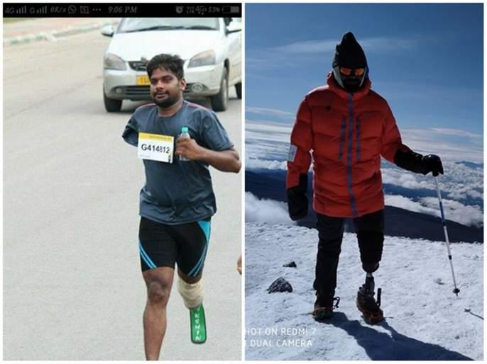 Aurangabad marathon India's first handicap mountaineer Shekhar Gaud to run   #क्रॉसदलाईन: भारताचे पहिले दिव्यांग गिर्यारोहक शेखर गौडही महामॅरेथॉनमध्ये धावणार