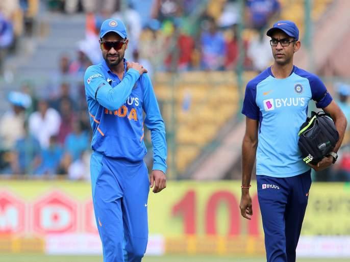 India vs Australia, 3rd ODI : Update: Shikhar Dhawan has gone for an X-Ray | Big Breaking : शिखर धवननं दुखापतीमुळे मैदान सोडलं, खेळण्यावर संभ्रम
