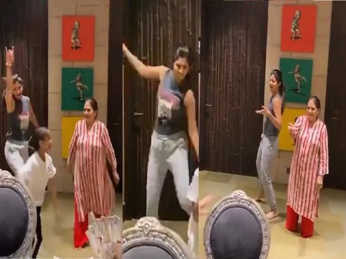 Oh wow!Shilpa Shetty dances to 'Sauda Khara Khara' song with mother in law on her Birthday | अरे व्वा भन्नाटच ! शिल्पा शेट्टीने सासूबाईसह धरला ठेका, पाहा व्हिडीओ