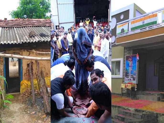 Build a new house for martyr's wife, youth 'brothers' gift on Independence Day in indor | Video : शहिदाच्या पत्नीला नवं घर बांधून दिलं, स्वातंत्र्यदिनी तरुणांची 'भाऊ'क भेट