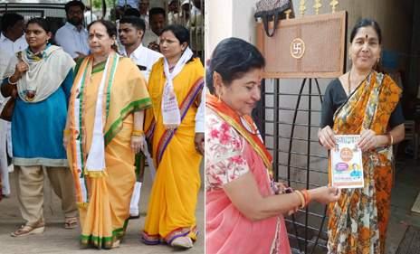 The family of the candidates has landed in the campaign   Maharashtra Election 2019; उमेदवारांचं कुटुंब उतरलंय प्रचारात