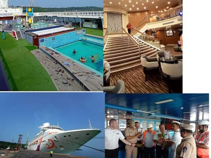 M. for the first time in Ratnagiri. S. A traveling ship called Karnika | रत्नागिरीत प्रथमच एम. एस. कर्णिका नावाचे प्रवासी जहाज -- जयगड येथील आंग्रे पोर्ट येथे आगमन