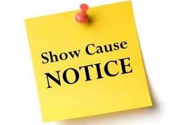 Show cause notices to Chief Accounts and Finance Officers   मुख्य लेखा व वित्त अधिकाऱ्यांना कारणे दाखवा नोटीस