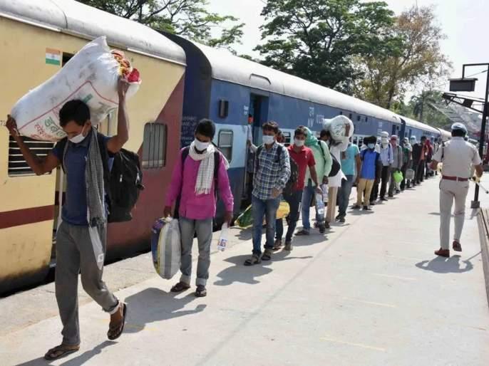coronavirus: stale food, no water in toilet in Shramik Express BKP   coronavirus: खायला शिळे अन्न, शौचालयात नाही पाणी, ट्रेनला १०-१० तास सिग्नल नाही, श्रमिक ट्रेनने प्रवास करणाऱ्यांचे हाल