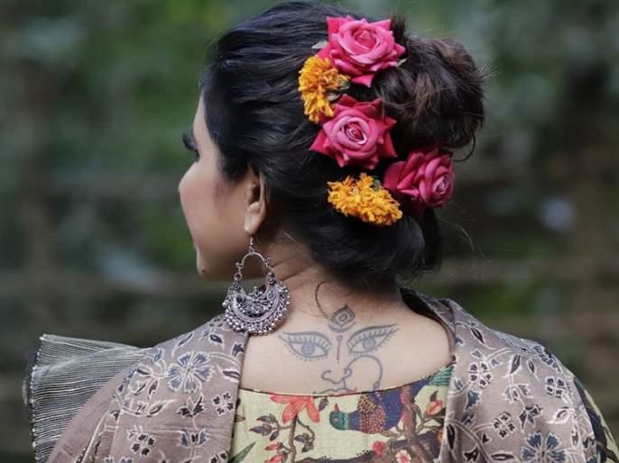 Shreya bugade did photoshoot for ujjawaltara brand | ओळखा का पाहु कोण आहे ही मराठीमोळी अभिनेत्री?, जिच्या पाठीवर आहे सुरेख टॅटू