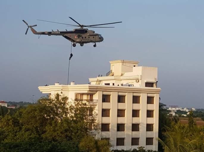 Colored training of terrorist attacks by the National Security Team | राष्ट्रीय सुरक्षा पथकाची शिर्डीत अतिरेकी हल्ल्याची रंगीत तालीम