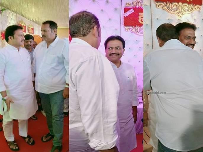Ultimately friendship won, Udayaraje bhosale' meet and hug to Shashikant Shande | अखेर 'दोस्ती' जिंकली, उदयनराजेंकडून शशिकांत शिंदेंना 'जादू की झप्पी'
