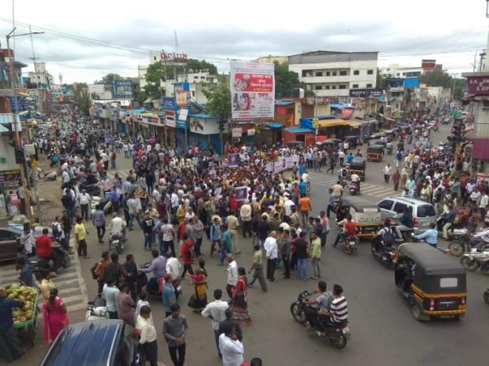 Main Market closed in Pimpri to protest the killing of Hitesh Mulachandani | हितेश मूलचंदानीच्या हत्ये निषेधार्थ पिंपरीतील मुख्य बाजारपेठ बंद