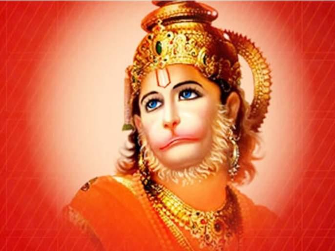 Maruthiraya covered his whole body with vermiculite, but why?   मारुतीरायाने आपल्या सर्वांगाला शेंदूर लावून घेतले, पण का?
