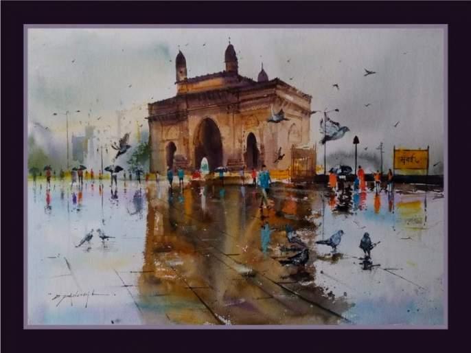 Awaliya of landscape painting, watercolor painting   निसर्गचित्र, जलरंग पेंटिंगचा अवलिया; जलरंगाचा वापर करून काढली ३०० हून अधिक चित्रे
