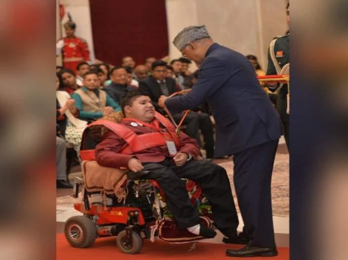 President Kovind presented the Pradhan Mantri Rashtriya Bal Puraskar, 2020 at Rashtrapati Bhavan | ...अन् कुशाग्र बुद्धीच्या जोरावर 'त्यानं' लकवाग्रस्त शरीराला केलं 'चेकमेट'!
