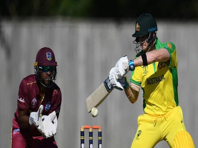 Australia won by seven wickets, unofficial World Cup warm-up match against West Indies | स्टीव्हन स्मिथची दमदार खेळी, पण ऑस्ट्रेलियाचा सलामीवीर जखमी